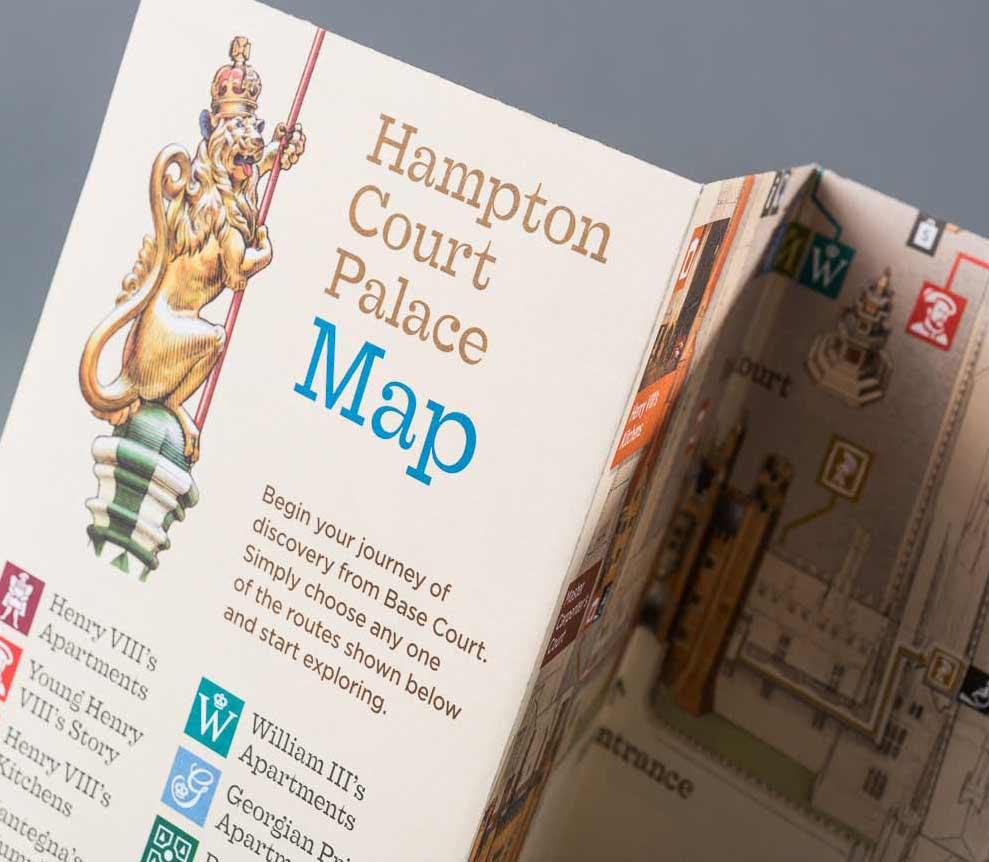 Visitor Map Hampton Court Palace Abg Design